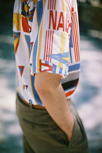 One Person Human Body Part Close-up Man Analog Film Photography EyeEm 35mm Lifestyles Adults Only Film Fashion Colors Floral Patriotism People Day Adult One Woman Only Standing Women Outdoors Only Women Adults Only One Young Woman Only