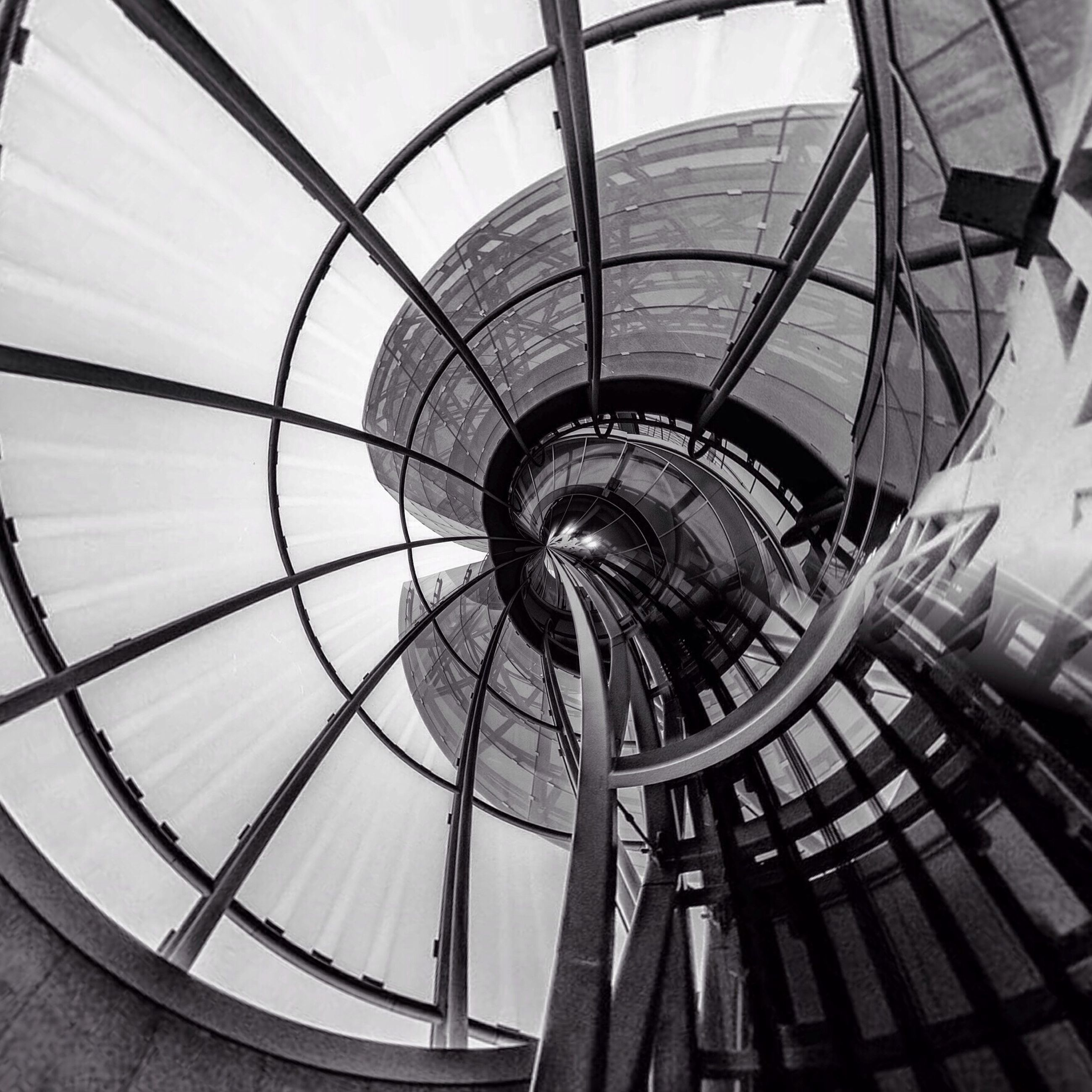 spiral, architecture, built structure, no people, indoors, day