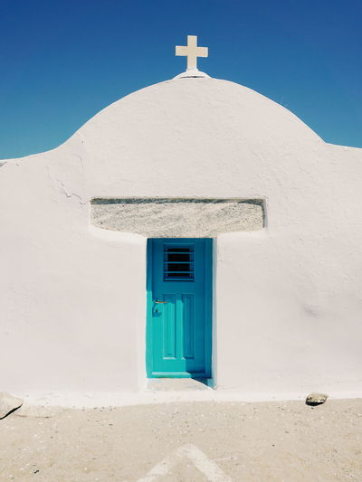 Church i Amorgos island Greek Islands Amorgos Amorgosisland Bell Tower Built Structure Cross Cyclades Day Greece No People Outdoors Place Of Worship Religion Spirituality Whitewashed