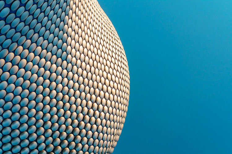 Birmingham Birmingham UK The Architect - 2017 EyeEm Awards Blue Background Building Exterior Built Structure Clear Sky Close-up Copy Space Day Low Angle View Minimal Minimalism Minimalist Minimalist Architecture Minimalistic Minimalobsession No People Outdoors Pattern Selfridges Selfridgesbirmingham Sky Studio Shot Minimalist Architecture