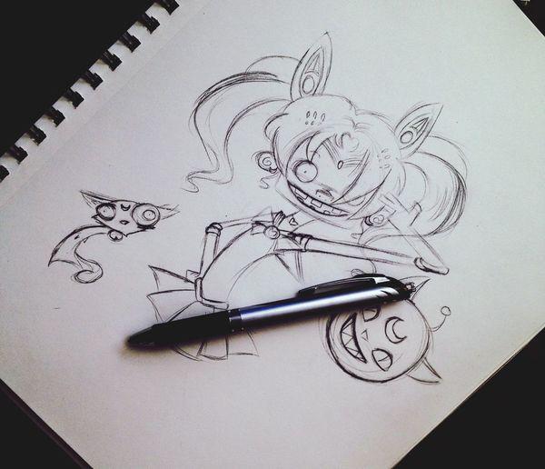 Redoing Sailor Mini Moon. Art Sketch Drawing Anime Doodle Cartoon Wip Fanart Sailormoon Cute