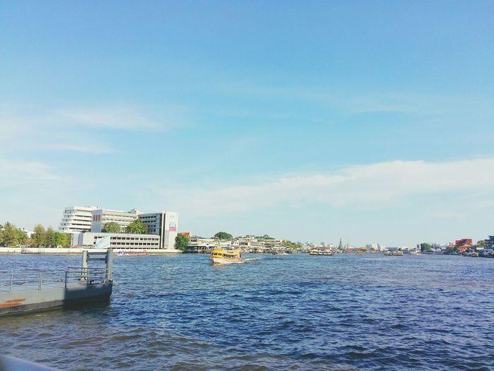 Pier🚢⛵🚢 River View River And Sky Pier Building Blue Sky Blue Water Blue Sky Bangkok