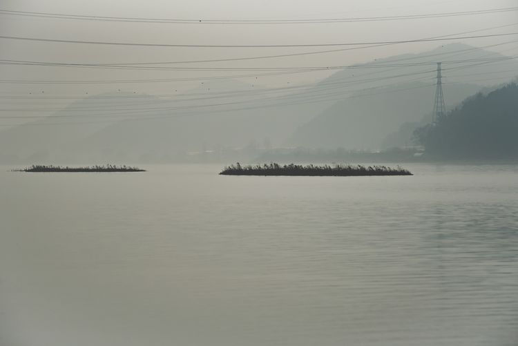 Water Nature Outdoors Fog Cable No People Day Sky Beauty In Nature