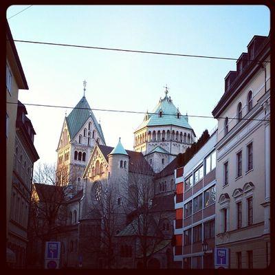 Am St. Anna Platz Muenchen MUC Winter2014 Ichgradso oberbayern kirche