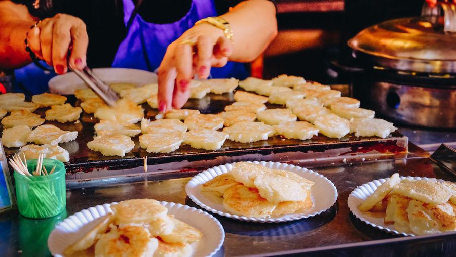 Food Hand Human Body Part Human Hand Lifestyles Street Food Sweet Food Thai Food