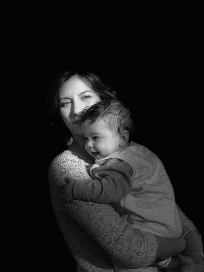 Motherly Love Family Love Bonding Black Background First Eyeem Photo