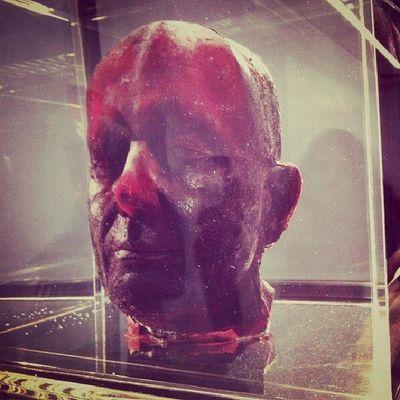 Kendi kanından yaptığı kendi büstü Markquinn Self Bloodhead Thesleepofreason exhibition arter istiklal istanbul