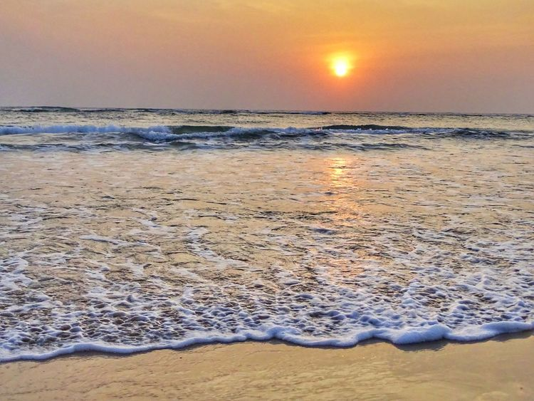 Sunset_collection Sea And Sky Hdr_lovers Waves🌊 EyeEm Gallery EyeEm Best Shots EyeEm Sky_collection Sunset Beach Horizon Over Water Landscape Sea Beauty In Nature Sun Outdoors Sunlight No People Scenics Sky Water Tranquility