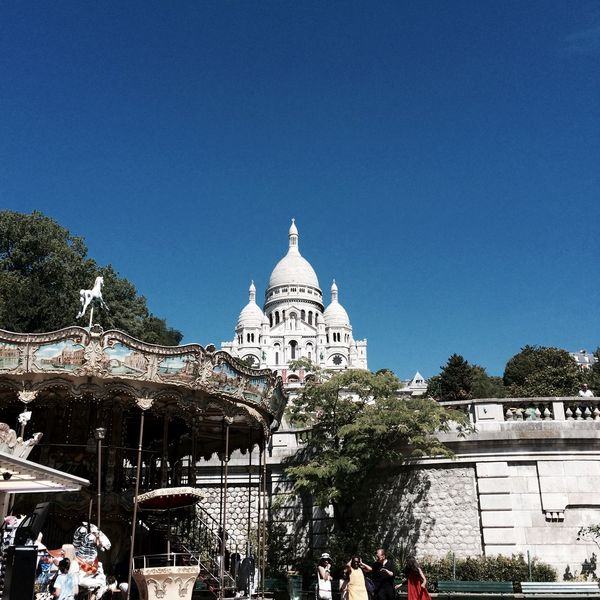 Sacré-Coeur Sacré-Cœur De Montmartre Architecture Blue Building Exterior Built Structure Clear Sky Day Dome Low Angle View No People Outdoors Sky Tree
