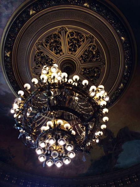 Chandelier Light Light And Shadow Operahouse Palais Garnier Paris