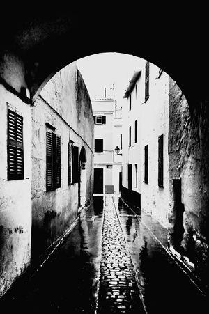 Old town, Ciutadella, Menorca Streetphotography Blackandwhite Menorca Architecture