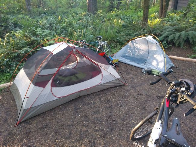Bike Camping Bikepacking Camp Camping Campsite Campsite View Mode Of Transport Tent Tents