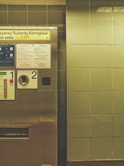 Metro Station Subway Station Athens Athens, Greece Metro Platform Ticket Machines