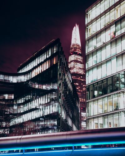 Architecture Cityscape London London lifestyle Modern Shard London Architecture Building Exterior Built Structure City City Life Cityscape Clean Day Geometry Illuminated Long Exposure Low Angle View Modern No People Outdoors Sky Skyscraper Travel Destinations Urban Skyline The Graphic City