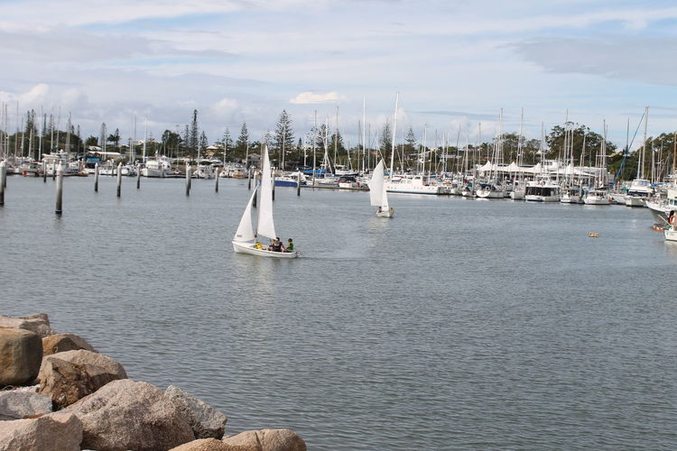 Beautiful Day :) Beautiful View ❤ Boats & Sailing Boats Great Atmosphere Great Place To Be Sailing Boats Scarbourough Water Ways