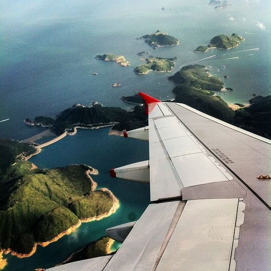 Love for Window Seat . Seaside and Island View is never more Mesmerising . Aerial View of HongKong Islands . I want to Fly . Cathay Pacific Flight view. You too keep shooting @wayfarer386 and @kushalsin