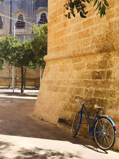 Sunny Day in Tricase Hidden Gems  Shadow Sunlight Colorful Hot Day Outdoor Blue Bicycle Puglia Italy Place Street Photography Sommergefühle