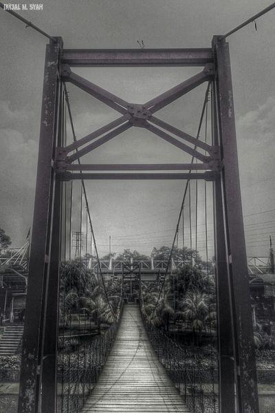 Black & White Black And White Bridge Symmetrical