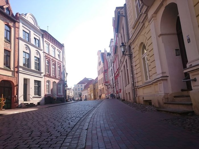 Strolling through the streets. Blue Sky Charme Cobblestone Germany Light No People Oldtown Perspective Smalltown Urban Wismar