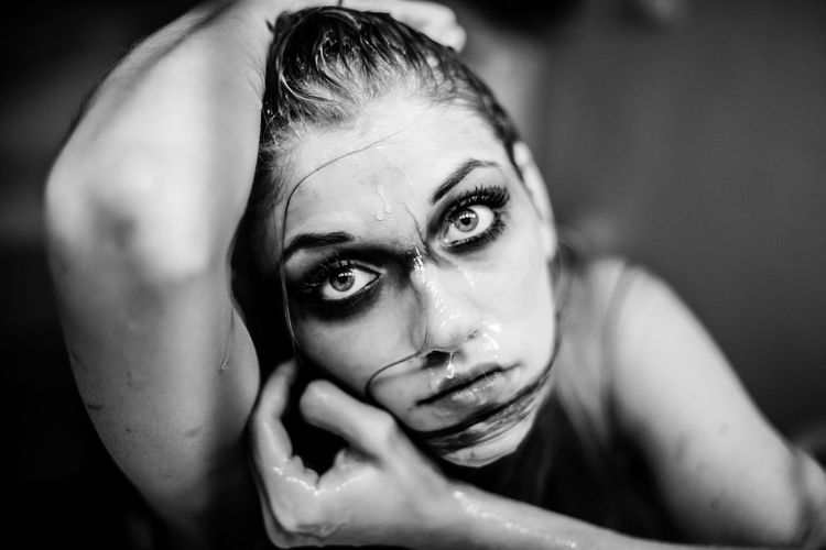 Delicate Beauty Eyes Eyes Are Soul Reflection Eyes Watching You Face Monochrome Photography Nuri Seaweed Slimy Wet The Portraitist - 2018 EyeEm Awards