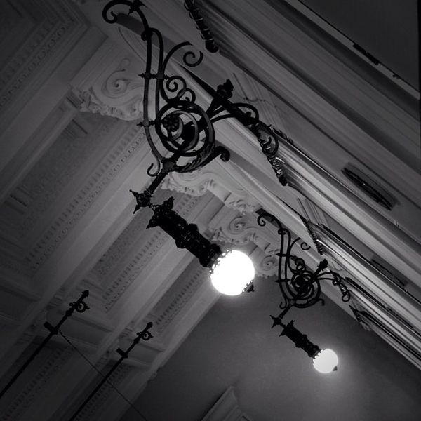 Twin lights. Museum Instadaily Ceiling Instatags Monochrome Noirlovers Monaco Bnw Bw_butcher Picoftheday Bwdaily Noiretblanc Bwmaster Monoart Architecture Summer TBT  Noir Gang_family Light Igers Beautiful Jj  Blackandwhite Bw_lovers Art Tweegram Love Instagood