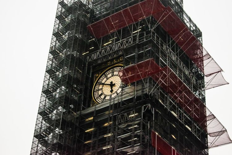 Architecture Building Building Exterior Built Structure City Clear Sky Clock Clock Tower Day Glass - Material Low Angle View Nature No People Outdoors Sky Tall - High Time Tower Travel Destinations Window