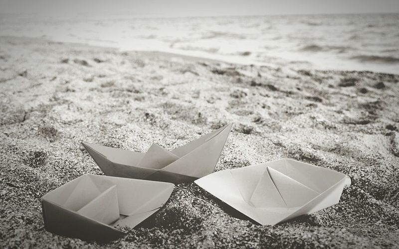 Monochrome Photography Beach Close-up Paper Boat Beauty In Nature This Is My World Every Picture Tells A Story Transportation Outdoors This Week On Eyeem Capturing Motion Copied Scene Mumbai_in_clicks