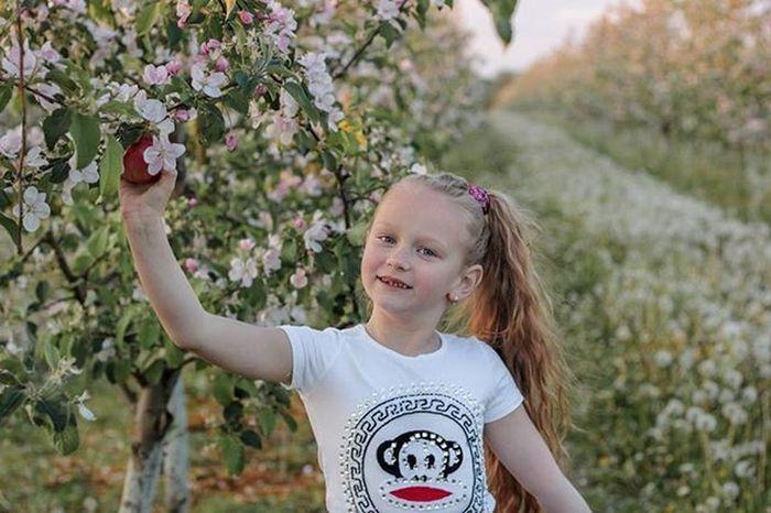 О,яблочки уже 🍎🍎🍎 беларусь Природа весна май девочка доченька яблони сад красота Belarus Nature Photo Spring Daughter Girl Lusienka_pilets Canon
