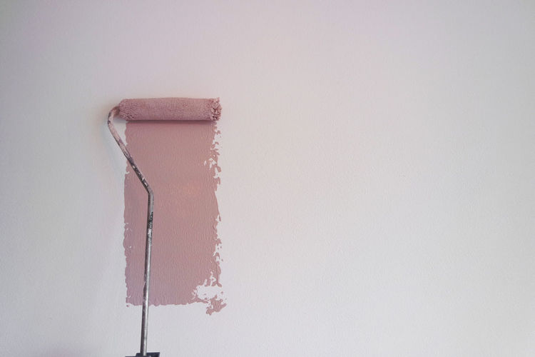 Copy Space Indoors  White Color No People Wall - Building Feature White Background Studio Shot Still Life Close-up Creativity Single Object Built Structure Architecture Home Improvement Paint Roller Painting Wall Wall Paint