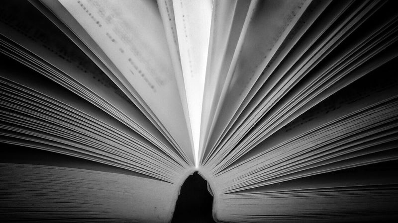 Novel Blackandwhite Macro Photography Macro Page Pages Pages Of A Book Close-up Book Books Open Book