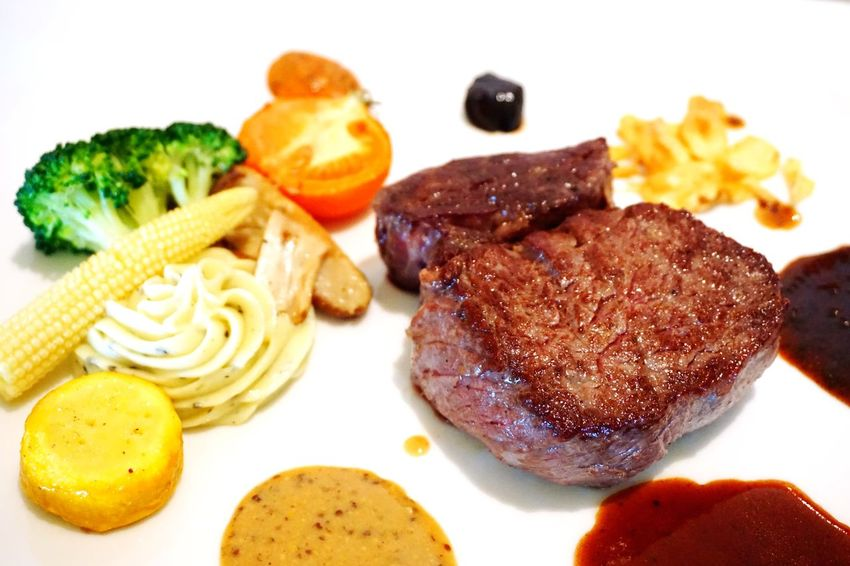 #Last meal in 2017 Meal Food And Drink Plate Meal White Background Gourmet Beef Ready-to-eat