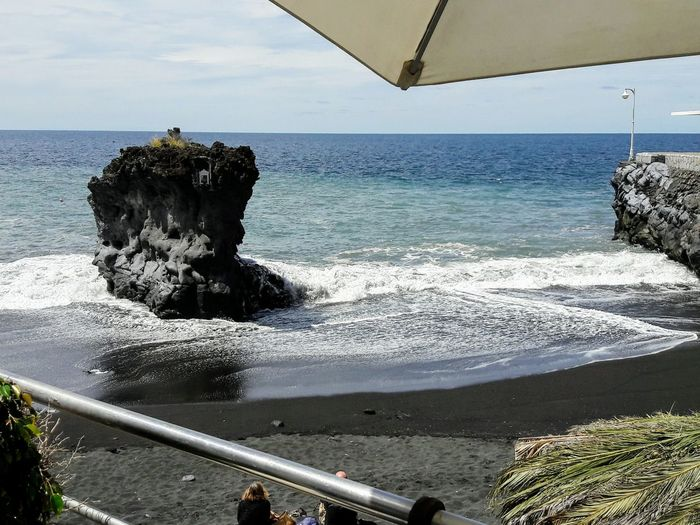 Black beach Canary Islands Black Beach Sand Water Wave Sea Beach Sand Sky Horizon Over Water Lava