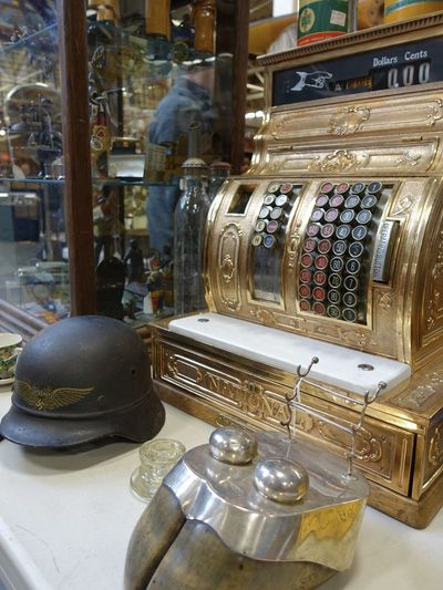 Ring in another sale! Antiques Market Classic Cash Register Close-up Collectables Fresh On Eyeem  Gold Colored Memorabilia No People Vintage Cash Register