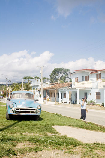 Cuba Cuba Collection Pinar Del Rio Architecture Building Building Exterior Built Structure Car Casual Clothing City Cloud - Sky Day Land Vehicle Mode Of Transportation Motor Vehicle Nature Old Car Outdoors People Plant Real People Sky Street Sunlight Transportation
