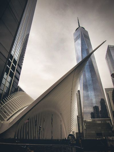 Freedom comes with a cost Architecture Built Structure Skyscraper Tower City Day Outdoors Building Exterior Low Angle View New York Travel EyeEm Selects 911worldtradememorial WTC