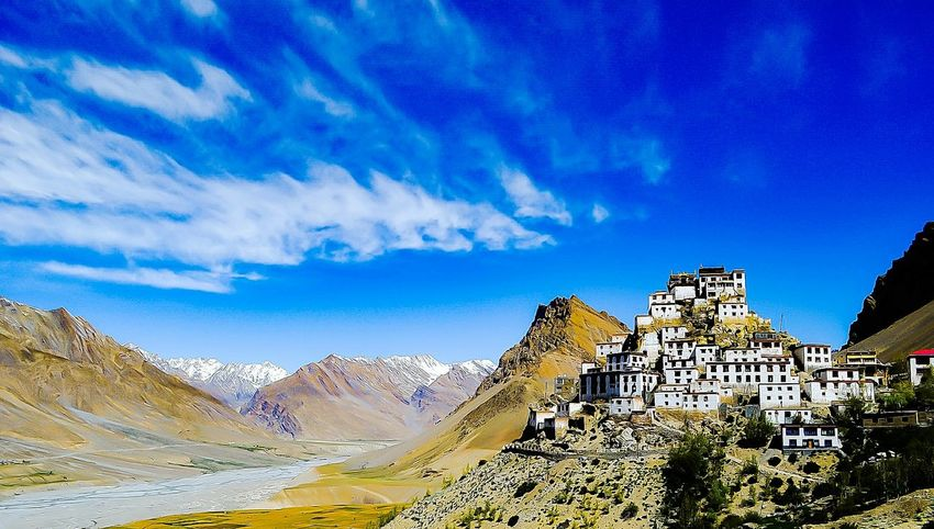 Tranquil Landscape Tranquil Scene Travel Photography Travel Destinations Nature Scenics Landscape_Collection Landscape_photography Spiti Valley India Key Monastery Be. Ready. Mountain Cloud - Sky Outdoors Mountain Range Sky No People Nature Landscape Scenics EyeEmNewHere