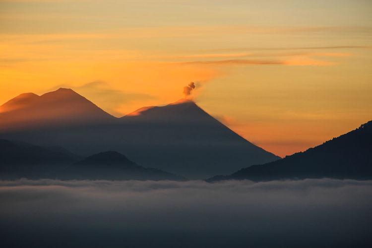 Atitlan Lake Guatemala Volcanic Eruption Volcanoes Beauty In Nature Lake Lake View Mountain Nature Outdoors Scenics Sky Sunrise Tranquility EyeEmNewHere