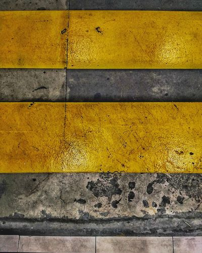 Yellow Textured  Backgrounds No People Paint LINE Crosswalk Streetphotography Street EyeEmNewHere