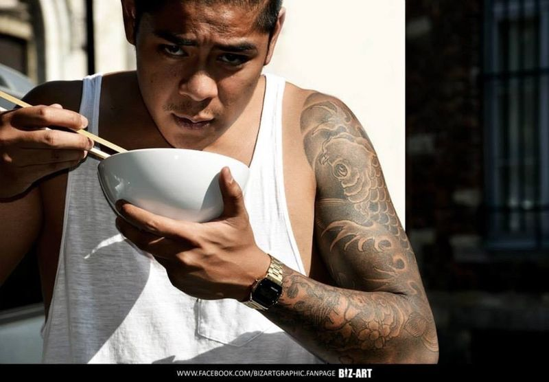 Asian  Food Eat Tatoo Gang Gansta Latino Biz-art Graphic
