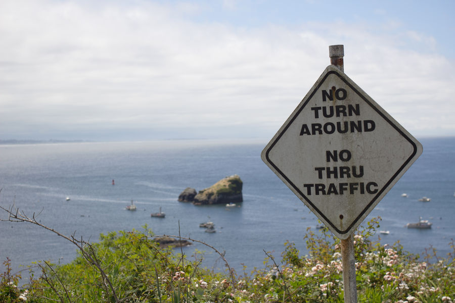 Bay California Clouds And Sky Coast Elevated View Landscape Nature Pacific Ocean Plants Road Sign Rock Formation Sea Seascape Seastacks Sign Trinidad