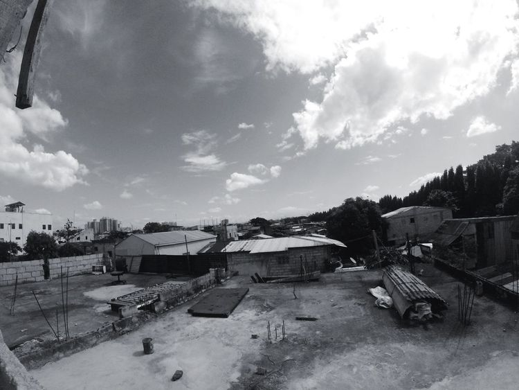 Architecture Built Structure Building Exterior Sky Cloud - Sky House Outdoors Day High Angle View No People Town Tree City Nature The Great Outdoors - 2017 EyeEm Awards The Architect - 2017 EyeEm Awards The Street Photographer - 2017 EyeEm Awards Architecture Gopro Houses Black And White Blackandwhite Photography