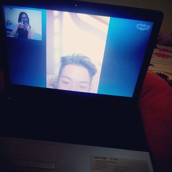 He's not my boyfriend. But I do love his smile, his laugh, his hugs, his texts, and just being with him. LDR Harthart Skype @migsbuenaventura