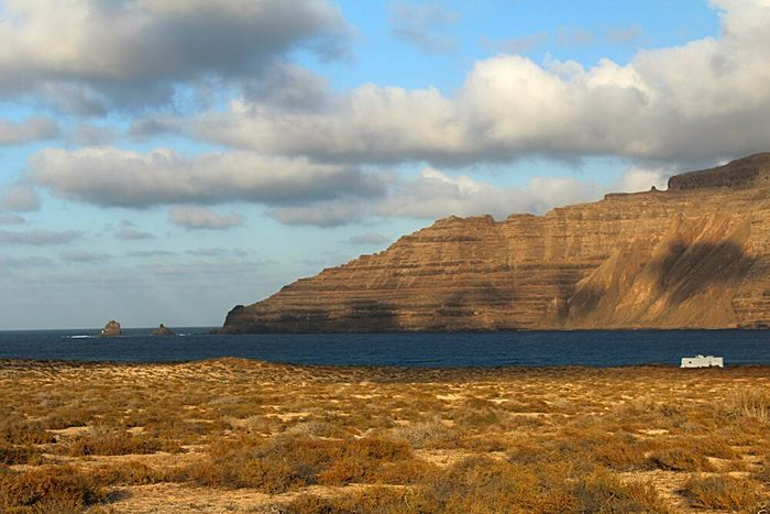 Clouds Tranquil Scene Sea Tranquility Non-urban Scene Cloud - Sky La Graciosa Lanzarote Island Canary Islands