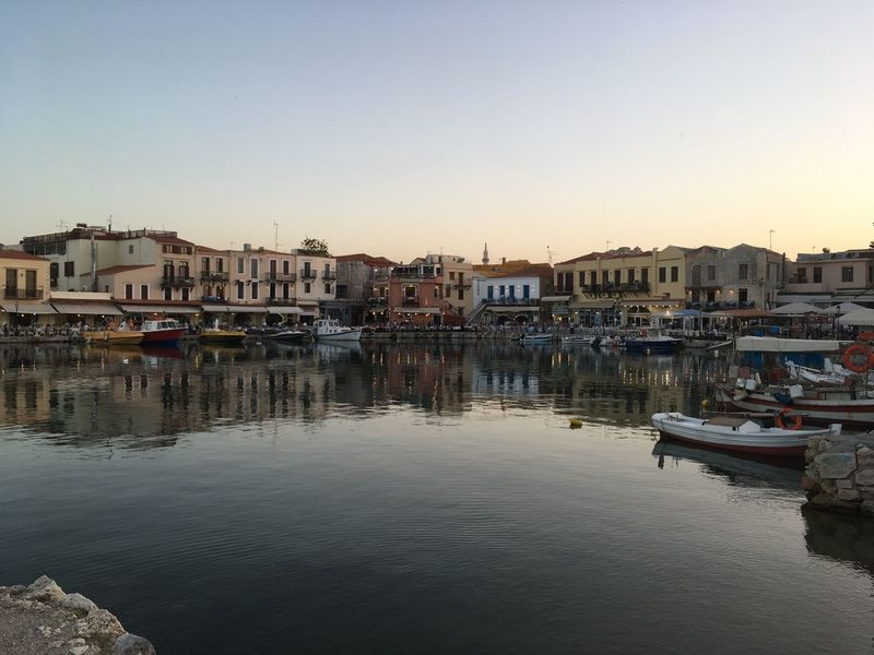 Clear Sky No People Water Travel Destinations Waterfront Nature Landscape Outdoors High Angle View Beauty In Nature Crete Kreta Sea Rethymno