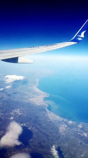 From An Airplane Window The View From My Window View From An Airplane Traveling Anadolujet Clouds And Sky Sea And Sky Just Blue Galaxy Note 4 The Week On EyeEm