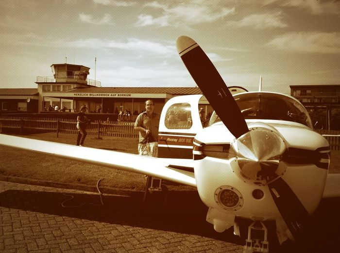 Borkum Airport Sepia Mooney M20J