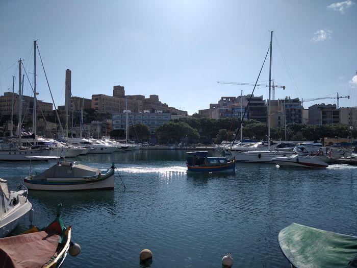Malta Msida Msida Marina Mediterranean  Mediterranean Sea Marina Nautical Vessel Water Transportation Mode Of Transportation Architecture Moored Sailboat Harbor Sky Nature Mast Sea Pole No People Yacht Outdoors