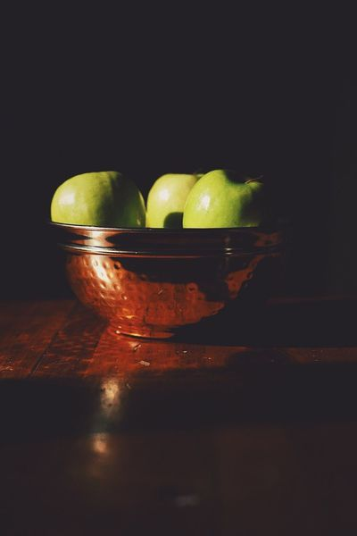 Apple Food And Drink Still Life Healthy Eating Table Food Freshness Fruit Bowl Black Background