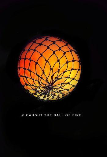 CAUGHT THE FIRE BALL.. Fire Ball HotBalloon Light Painting