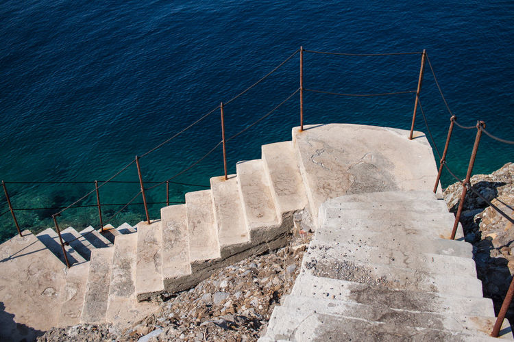 Day Nature No People Outdoors Sea Staircase Steps Water Way Down